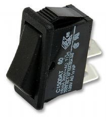 ARCOLECTRIC C1522ATAAA  Switch, Dpst, 16A, 250Vac, Black